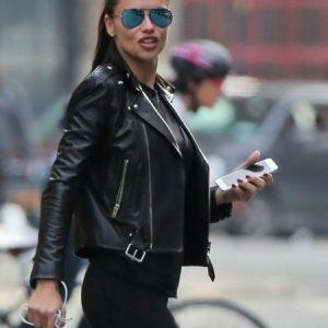 Adriana-Lima-Black-Leather-Jacket-