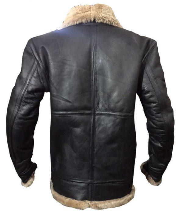 Mens Winter Aviator RAF B3 Shearling Real Sheepskin Leather Bomber Flying JacketB