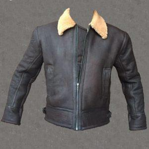 Mens Aviator RAF B3 Pilot Shearling Real Sheepskin Leather Bomber Flying Jacket