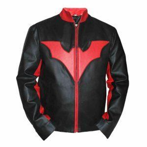 Mens Batman Logo Moto Biker Black Leather Jacket Halloween Jacket Costume