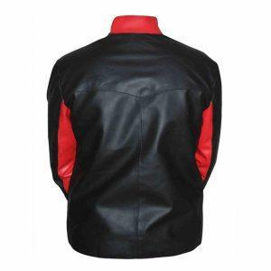 Mens Batman Logo Moto Biker Black Leather Jacket Halloween Jacket CostumeB