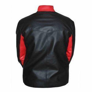Mens Batman Logo Moto Biker Black Leather Jacket Halloween Jacket CostumeB