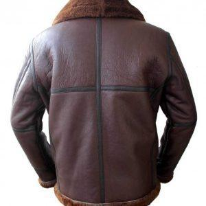Men's Aviator RAF B6 Sheepskin Fur Shearling Leather Bomber Flying JacketB