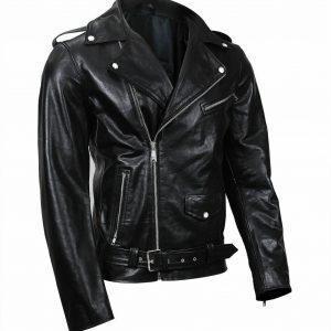 Mens Leather Jacket Black Southside Serpents Riverdale Biker Genuine LeatherF