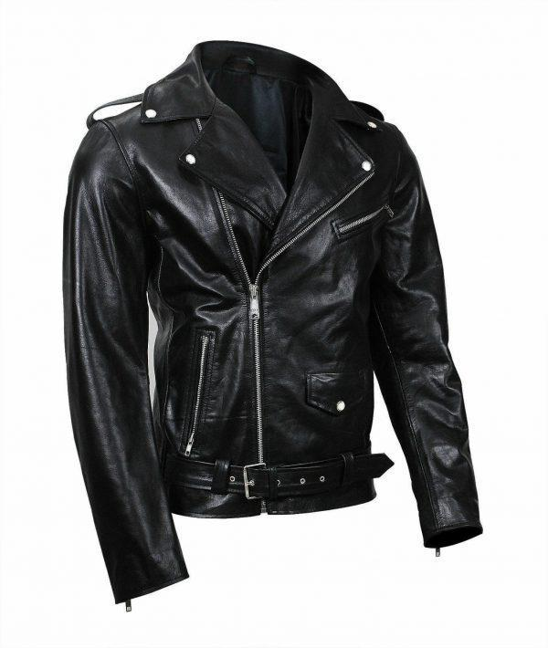 Mens Leather Jacket Black Southside Serpents Riverdale Biker Genuine LeatherF