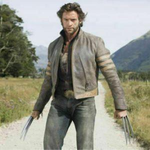 XMEN 1 WOLVERINE BROWN BIKER LEATHER JACKET HALLOWEEN LOGAN COSTUME