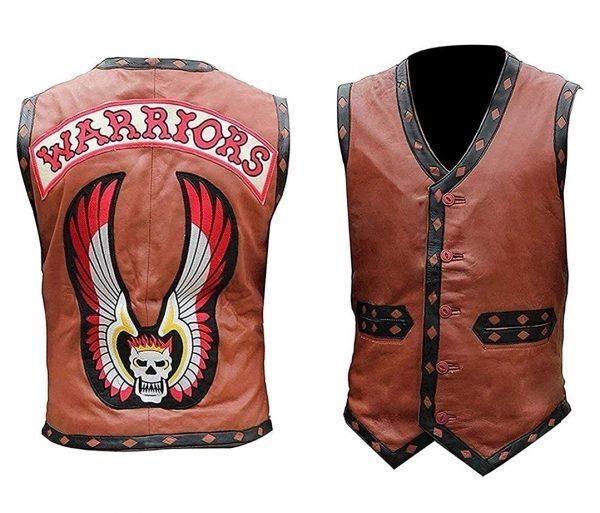 THE WARRIORS REAL LEATHER VEST JACKET