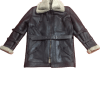 Men's B3 Bomber Aviator USAF Real Sheepskin Shearling Leather Bomber Flying Pilot Leather Jacket Coat