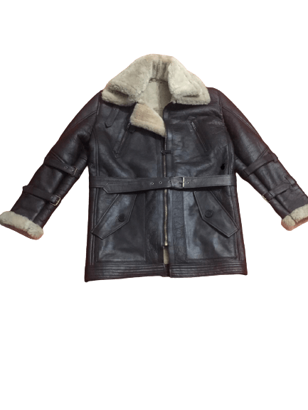 Men's B3 Bomber Aviator USAF Real Sheepskin Shearling Leather Bomber Flying Pilot Leather Jacket Coat 1