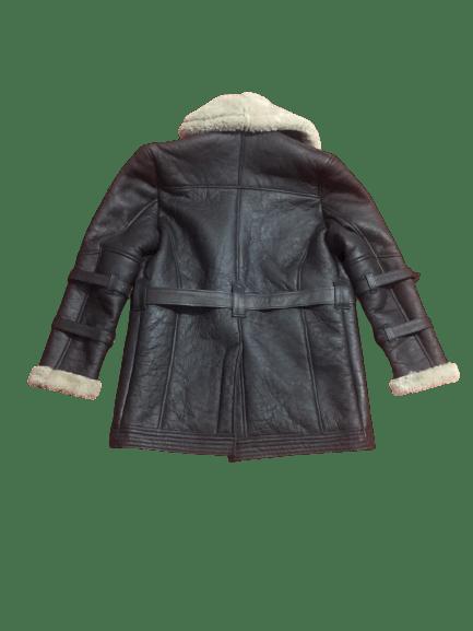 Men's B3 Bomber Aviator USAF Real Sheepskin Shearling Leather Bomber Flying Pilot Leather Jacket Coat 2